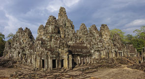 Ancient Bayon Temple in Angkor Wat. Siem Reap, Cambodia Royalty Free Stock Photo