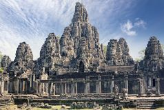 Ancient Bayon Temple 12th century  At Angkor Wat, Siem Reap, Cambodia. Ancient Bayon Temple 12th century At Angkor Wat, Siem Reap, Cambodia Royalty Free Stock Photo