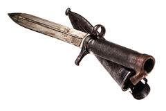 Ancient bayonet royalty free stock photography