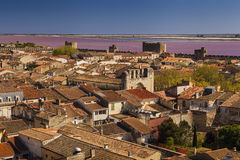 Ancient beautiful city in France. Languedoc. Camargue. Stock Photos