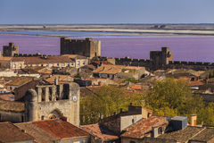 Ancient beautiful city in France. Languedoc. Royalty Free Stock Photos
