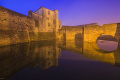 Ancient beautiful city in France. Languedoc. Stock Images