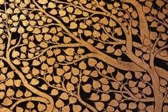 Ancient beautiful gold painting Stock Photos