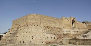The ancient and beautiful walls of bukhara. Uzbekistan Royalty Free Stock Photography
