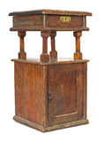 Ancient bedside table. Royalty Free Stock Photography