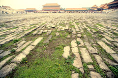Ancient Beijing the imperial palace square Royalty Free Stock Images