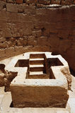 Ancient Beit Shean, Israel. A christian tomb with stairs leading underground at ancient Beit Shean in Israel Royalty Free Stock Photos