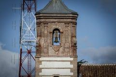Ancient belfry,Cerro de los Angeles is located in the municipali Stock Photo