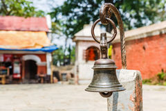 Ancient bell in the courtyard Royalty Free Stock Photography