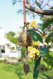 Ancient bell in the garden. In the morning Royalty Free Stock Images