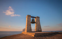 Ancient bell at sunset. In  Chersonesos Royalty Free Stock Photos