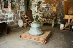 Ancient bell in Tatev monastery royalty free stock images