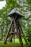 Ancient bell tower in a cemetery in Netherlands Royalty Free Stock Images