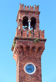 ancient bell tower on the island of Murano near Venice Royalty Free Stock Photos