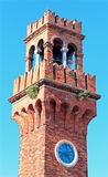 ancient bell tower on the island of Murano near Venice Stock Photography