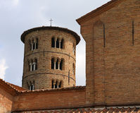 Ancient bell tower made of bricks of the church Saint Apollinare Royalty Free Stock Photography