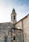 Ancient bell tower in a medieval village Stock Photos