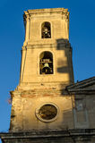 Ancient bell tower of Parroquia Sant Joan Baptista in Tarragona, Spain Stock Image