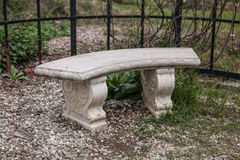 Ancient bench  in a park, garden architecture, background Stock Images