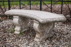 Ancient bench  in a park, garden architecture, background Stock Photography