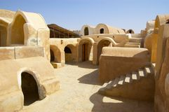 Ancient Berber town royalty free stock photo