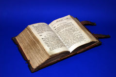 Ancient Bible. Ancient copy of the The Holy Bible Stock Photography