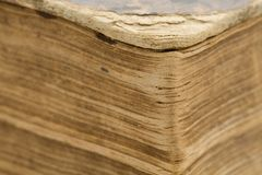 Ancient bible - old book - pages closeup Royalty Free Stock Image
