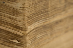 Ancient bible - old book - pages closeup. Old book - pages closeup - ancient bible Royalty Free Stock Photography