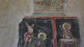 Ancient biblical frescoes stock video
