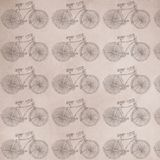 Ancient bicycle, gift or cloth paper, pattern, repeating pattern. Ancient bicycle, gift or cloth paper Royalty Free Stock Photos