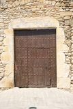 Ancient big brown wood door Royalty Free Stock Photos