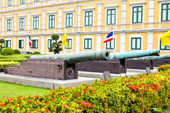 Ancient biggest cannon from Thai government museum Royalty Free Stock Photography