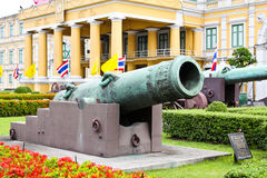 Ancient biggest cannon from Thai government museum Stock Image