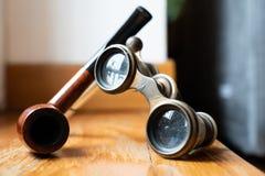 Ancient binoculars details royalty free stock photos