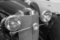 Ancient black car Royalty Free Stock Photo