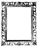 Ancient Black Frame Stock Images