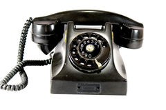 Ancient black phone. Stock Image