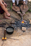 Ancient black smith craftsman Royalty Free Stock Image