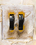 Ancient black switch. vintage old object Stock Photography