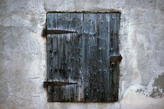 Ancient Black Window Royalty Free Stock Photography