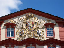 Ancient blazon. On the wall of classical house Stock Images