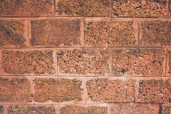 Ancient block big wall with brown and orange tone, Old square pattern, Texture background. stock image