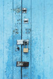 Ancient blue door Royalty Free Stock Photography