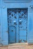 Ancient blue door royalty free stock photo