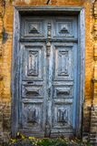 Ancient blue doors from nineteenth century Royalty Free Stock Photos