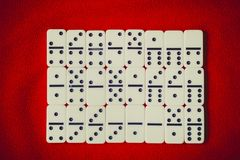 An ancient Board game of dominoes stock images