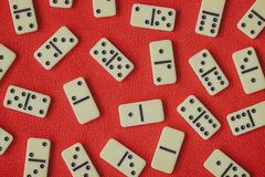 An ancient Board game of dominoes royalty free stock photography