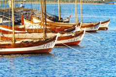 Ancient Boat of Izmir Stock Images