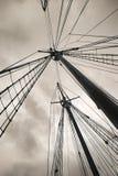Ancient boat masts Royalty Free Stock Photo