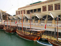 Ancient boats in Kuwait. Ancient boats used in Gulf countries  restaurated in Kuwait Stock Photo